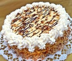 Erkel torta Torte Cake, Hungarian Recipes, Sweet And Salty, Cakes And More, Cake Cookies, Cookie Recipes, Tart, Food And Drink, Birthday Cake