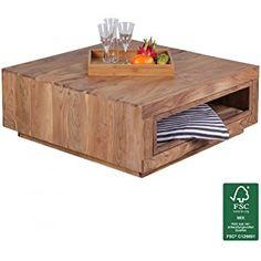 FineBuy Couchtisch Massiv Holz Akazie 88 X Cm Design Wohnzimmer Tisch Ausziehbar Landhaus