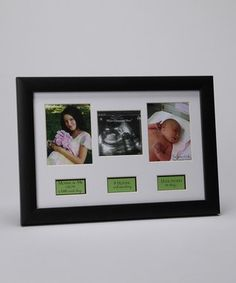 Need this for each kid!  'Story Of Life' Picture Frame. Pic 1: Expecting Mom/ Pic 2: Ultrasound/ Pic 3: Newborn. So sweet.