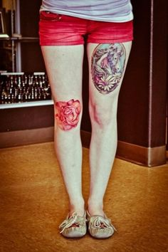 Loving this thigh tattoo..