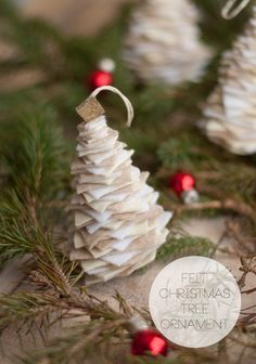 DIY Felt Tree Ornament