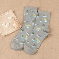 ZDL072 New Autumn and Winter Korea Plant Cotton Socks Women Socks