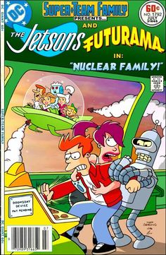 People in the Future converged  Jetsons and Futurama