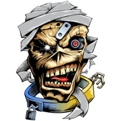 Vector illustration from pencil sketch. Based on Eddie character from the heavy metal band Iron Maiden, ano. Eddie the Head Hard Rock, Heavy Metal Bands, Iron Maiden Posters, Eddie The Head, Iron Maiden Band, Graffiti Characters, Skull Artwork, Rock Posters, Rock Legends