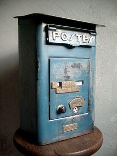 Boite aux lettres LA POSTE - P.T.T tole FOULON 1930 dans OBJETS,DECO... GEDC68031-768x1024