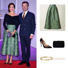 Danish Royal Family, Danish Royals, Crown Princess Mary, The Crown, Royal Fashion, Denmark, New Look, Awards, Sequin Skirt