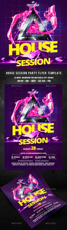 House Party Horizontal Flyer House party, Flyers and ITEM