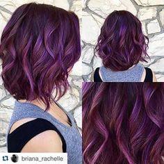 Image result for subtle dark purple hair