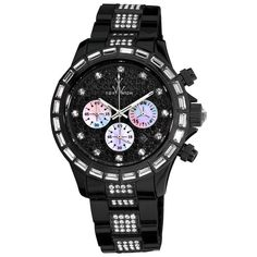 Toy Watch Unisex All Black Watch In Black & White - Beyond the Rack