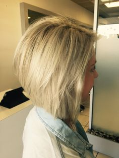 My hair - blonde concave bob