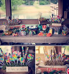 Cheapest, easiest way to decorate with rainbow color: candy!!
