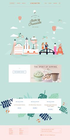 Cacao 70 main page design Design Web, Layout Design, Website Design Layout, Web Banner Design, Web Layout, Page Design, Creative Design, Flat Design, Website Templates