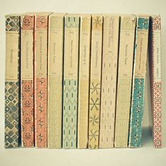 Really pretty patterns on these books.