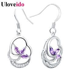 Find More Drop Earrings Information about Silver Earrings Wedding Jewelery Earring to Women Amethyst Rhinestones Crystal Earring Woman's Fashion Accessories Ulove R183,High Quality accessories table,China accessories jdm Suppliers, Cheap accessory apartments from D&C Fashion Jewelry Buy to Get a Free Gift on Aliexpress.com