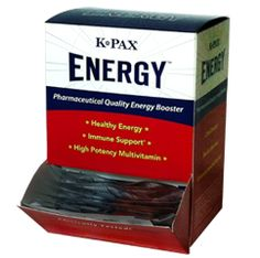K-Pax Energy Tabs. 50 Tablets/25 Packets $49.95
