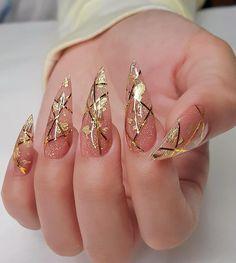 Edgy Nails, Chic Nails, Glam Nails, Dope Nails, Stylish Nails, Trendy Nails, Nail Design Stiletto, Nail Design Glitter, Glitter Nails
