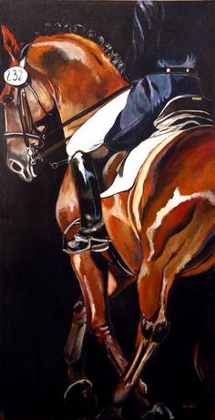 Beautiful Dressage Art #equine #horse #horselover http://globalhorsecents.com