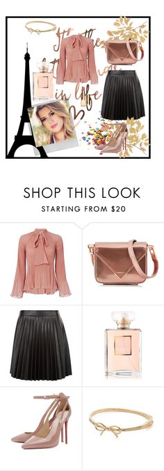 Pleated by dudavagsantos on Polyvore featuring moda, 10 Crosby Derek Lam, New Look, Alexander Wang, Kate Spade, Clarins, Polaroid and pleated