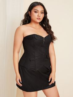 Plus Zipper Lace Up Back Shapewear Dress Dress P, Peplum Dress, Dress Lace, Pop Fashion, Fashion News, Plus Size Intimates, How To Slim Down, Plus Size Dresses, Vestidos