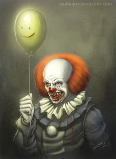 I saw the IT (tv-movie) yesterday and I had a great nostalgia attack and I wanna do some fan art of Pennywise Clown, I remember when I was a child, this clown dont let me sleep for weeks! The Crow, Le Clown, Creepy Clown, Clown Pics, Scary Mask, Horror Icons, Horror Art, Clown Horror, Scary Movies
