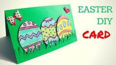 Поделки к Пасхе - как сделать весенюю пасхальную открытку с яйцами за 5 ...