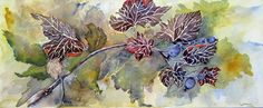 Watercolor Wild Oregon Grape Abstract Watercolor, Watercolor Flowers, Watercolor Paintings, Oregon Grape, Silk Painting, Portrait, Create, Handmade Gifts, Floral
