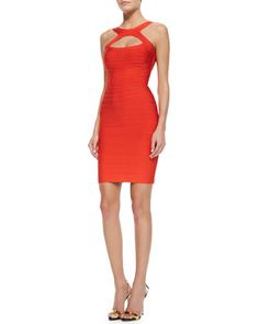 Skylor Signature Essential Cutout Dress by Herve Leger at Bergdorf Goodman.