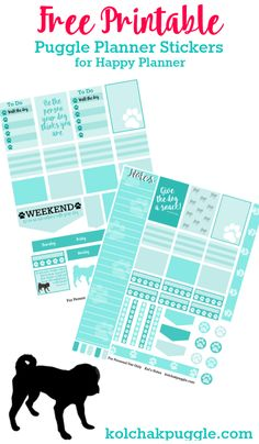 Happy Planner Free Printable Planner Stickers for Dog Lovers