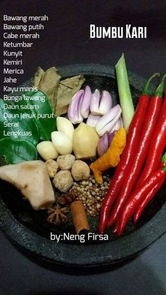 Cooking Ingredients, Cooking Recipes, Malay Food, Indonesian Cuisine, Malaysian Food, Base Foods, Street Food, Food Hacks, Asian Recipes