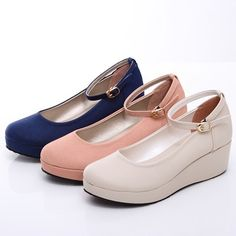 BN Womens Classic Dress Shoes Mary Jane LOW Ballet Flat Platform Oxfords Booties   eBay .... Perfecto for work. HR fashion!