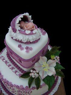 Dort marcipánový * ke křtinám s miminkem.