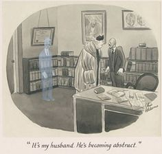 CHARLES ADDAMS - It's my husband. He's becoming abstract. - item by jhalpe Charles Addams, Cartoons, Husband, Abstract, Chair, Home Decor, Summary, Cartoon, Decoration Home