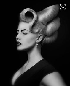 Eric Fisher haute couture hair design editorial photography black and white studio low key African Hairstyles, Vintage Hairstyles, Up Hairstyles, Crazy Hair, Big Hair, Hair Rainbow, High Fashion Hair, Competition Hair, Avant Garde Hair