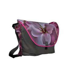 Pink Peach Blossom Messenger Bag