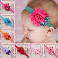 Encontrar Más Accesorios para Cabello Información acerca de Infantiles de flores lamentables venda elástico del pelo
