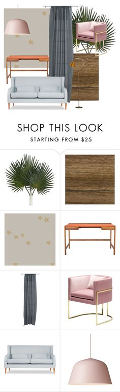"""Study"" by artforma on Polyvore featuring interior, interiors, interior design, дом, home decor, interior decorating, Williams-Sonoma, Cole & Son, Kay + Stemmer и CB2"