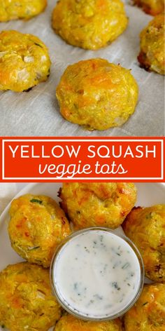 Yellow squash tots Easy Vegetable Side Dishes, Vegetable Snacks, Healthy Vegetables, Healthy Side Dishes, Vegetable Dishes, Side Dish Recipes, Squash Vegetable, Veggies, Canned Vegetable Recipes