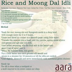 #rice #moong #dal #idli #healthy #food #snacks #recipe #children #lunchbox #quick #method #soaking #nutritious #oil #Indian #SouthIndian #Steam #Kids #Tiffin #Breakfast #Dosas #fenugreek #splitgreengram #grated #carrot #serve #chutney #pleasant #protein #vitamin #vegetables #rich Tiffin Recipe, Milk Dessert, Healthy Food, Healthy Recipes, Good Sources Of Protein, Ate Too Much, Food Staples, Saturated Fat, Eating Habits