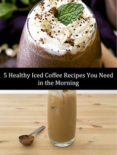 Kick off your morning routine with these 5 amazing Healthy Iced Coffee Recipes.They're a perfect pick-me-up for any coffee lover looking for something new!