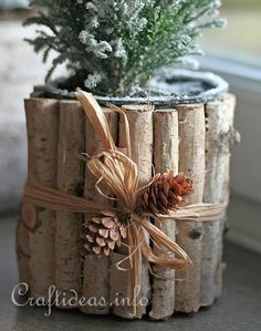 recycled tin can flower pot cover
