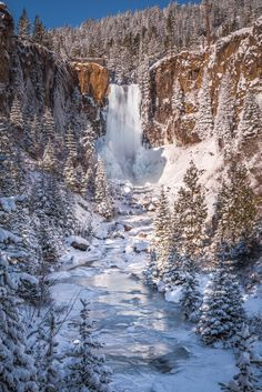 Frozen Tumalo Falls - Tumalo Falls as it fights the ice. One of the most beautiful sights in Central Oregon. from Extreme Oregon