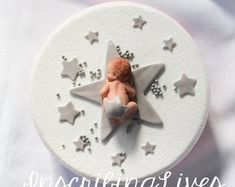 Your place to buy and sell all things handmade Christening Blanket, Girl Christening, Fondant Baby, Baby Cake Topper, Cake Toppers, Cupcake Photos, Homemade Marshmallows, Fondant Flowers, Twinkle Twinkle Little Star