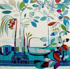 TIFFANY CALDER-KINGSTON EXHIBITION Folk Art Flowers, Flower Art, Cute Kawaii Drawings, Tree Illustration, Art For Art Sake, Whimsical Art, New Art, Watercolor Art, Book Art
