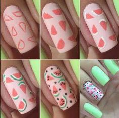 False nails have the advantage of offering a manicure worthy of the most advanced backstage and to hold longer than a simple nail polish. The problem is how to remove them without damaging your nails. Cute Nail Art, Nail Art Diy, Diy Nails, Glitter Nails, Cute Nails, Funky Nails, Trendy Nails, Food Nail Art, Nail Drawing