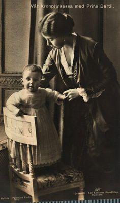 Crown Princess Margareta of Sweden with her son Bertil