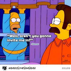 Stupid rude Flanders. #EverySimpsonsEver