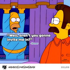 Stupid rude Flanders. #EverySimpsonsEver