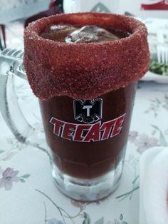 Michelada is a Mexican cerveza preparada made with beer, lime juice, and assorted sauces, spices, and peppers. It is served in a chilled, salt-rimmed glass. There are numerous variations of this beverage throughout Mexico and Latin America