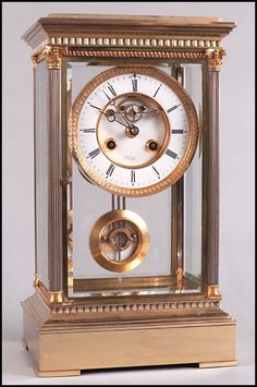 TIFFANY AND COMPANY FRENCH CRYSTAL REGULATOR CLOCK. : Lot 1242112 | The House of Beccaria