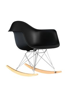 Macer Home Eiffel Rocking Arm Chair, Black at MYHABIT
